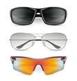 Man sunglasses set vector image