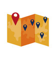 map the concept of navigation delivery vector image