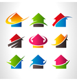 Real Estate House Logo Icons vector image
