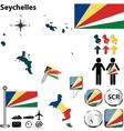 Seychelles map vector image