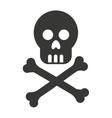 skull bones cross caution icon vector image