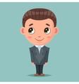 Business mascot good boy ready for job cartoon vector image vector image