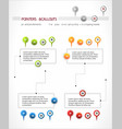 Interface elements set map location pointer pin vector image vector image