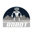 Robot design Technology concept Colorful vector image