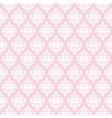 Damask seamless pattern in pastel pink vector image