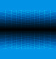 blue grid light technology background vector image