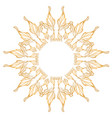 flower symbol on white background vector image