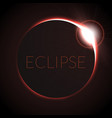 full eclipse eclipse with vector image