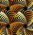 Golden fractal background vector image