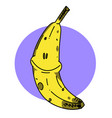 happy banana vector image