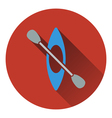 Icon of kayak and paddle vector image