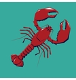 Lobster logo template vector image