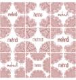 Mehndi henna frames Set indian patterns for vector image