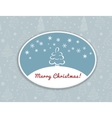 Merry Christmas postcard design vector image