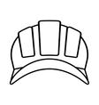 outline helmet head protective industrial vector image