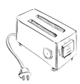 Retro old school toaster vector image
