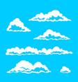 set of cloud elements vector image