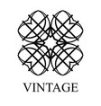 vintage logo template vector image