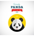 Weekly Panda Cute Flat Animal Icon Kiss vector image
