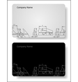 business card for the engineer vector image vector image