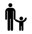 Father and kid symbol vector image vector image