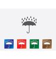Umbrella icons vector image vector image
