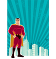 superhero city vector image