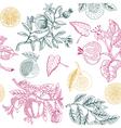 nature lemon print vector image