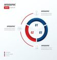 Circle infographic 2 color red and blue vector image