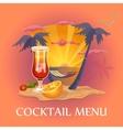 Cocktail menu template vector image