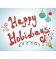 Happy holidays postcard design vector image