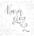 inspirational lettering never give up vector image