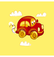 kiddy red vintage toy car vector image