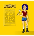 lumberjack girl with ax vector image
