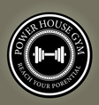 Power house gym vector image
