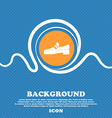 Shoe icon sign Blue and white abstract background vector image