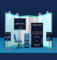 Promotional Exhibition Stand Template vector image