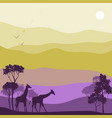 landscape with antelopes vector image