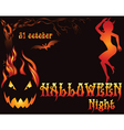 Halloween Party template vector image vector image