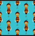 seamless pattern with bees vector image