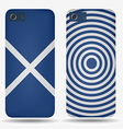 Rear covers smartphone with flags of Scotland vector image vector image