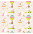 Seamless Baby Bunny Background vector image