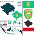 Map of South Sumatra vector image vector image
