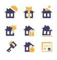 Home and House Insurance Risk Icons vector image