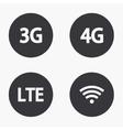 modern mobile internet icons set vector image