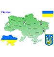 ukraine map flag vector image vector image