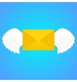 Mail with wings vector image