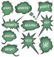 Chalkboard speech bubbles vector image