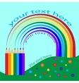 Pencils with rainbow scribble vector image