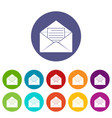 postal parcel icons set flat vector image